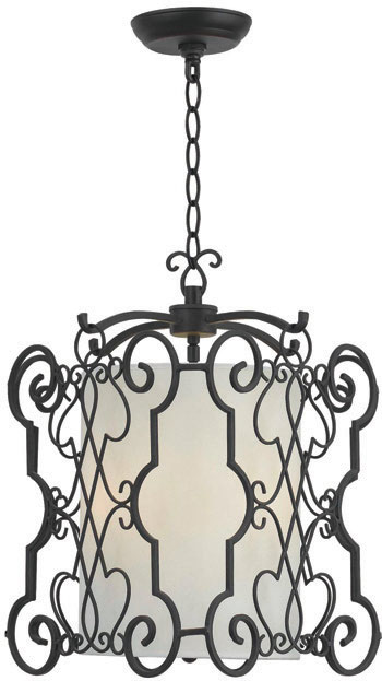 World Imports WI-7503-42 Alistar 3 Light Iron Pendant - Rust