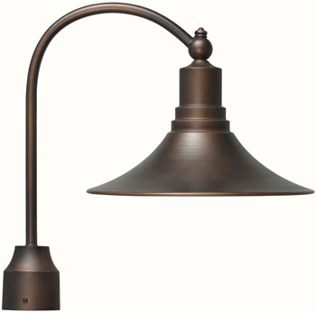 World Imports WI-9000-86 Dark Sky Kingston 1 Light Outdoor Post Lantern - Antique Copper