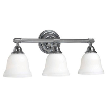 World Imports 3433-08 Ava 3 Light Bath Sconce with Glass - Chrome