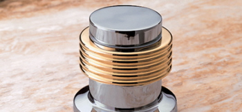 Jacuzzi� X524-827 Ring Style Handle - Chrome (Pictured in Brass on Chrome)