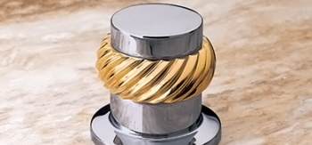 Jacuzzi® X525-829 Rope Style Handle - Bright Brass (Pictured in Brass on Chrome)