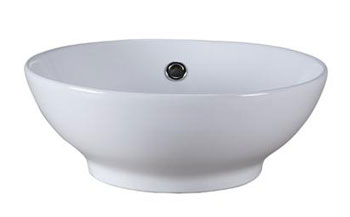 Xylem CVE160RD Ceramic Square Vessel - White