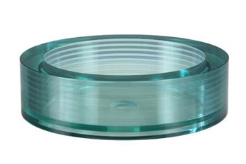 Xylem GV105RRD Segment Round Glass Vessel - Green Tinted