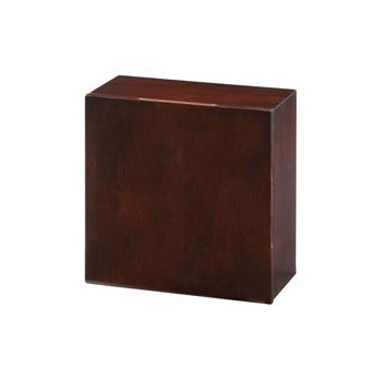 Xylem MI-BLOX-DO12DK Mini Blox with Glass Shelf - Dark Walnut