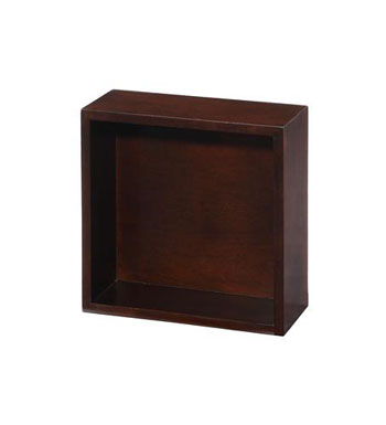 Xylem MI-BLOX-OP12DK Mini Blox with Open Shelf - Dark Walnut