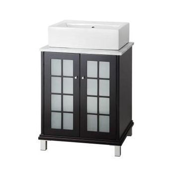 Foremost FMZEEA2421 Zen 23-3/4 in. W Vanity in Espresso with Marble Vanity Top - Carrara