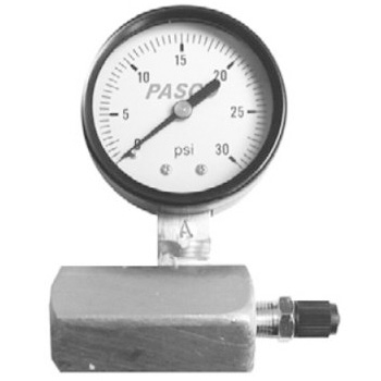 Pasco 1427 30lb Gas Test Gauge Assembly