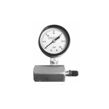 Pasco 1420 0-60 PSI Air Test Gauge Assembly