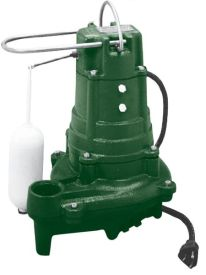 Zoeller 137-0002 N137 Sump & Effluent Pump 1/2 HP, 115V, 1PH, 15' Cord, Non-Automatic