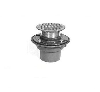 Zurn ZN415-3NH-5B-90 3 inch  Cast Iron Floor and Shower Drain with  inch Type B inch  Strainer