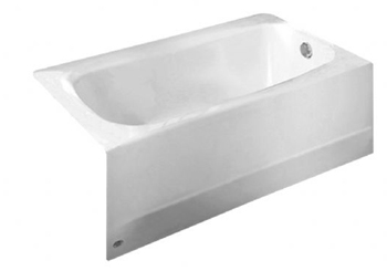 American Standard 2461.002 Cambridge 5' Americast Three-Wall Alcove Bathtub White
