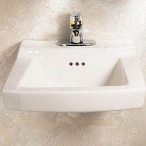 American Standard 0124.024 Comrade Wall-Mount Sink - White
