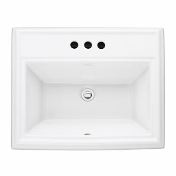 American Standard 0700.004 Town Square Countertop Sink - White