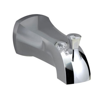 American Standard 8888.017.295 Copeland Slip-On Diverter Tub Spout - Satin Nickel (Pictured in Cheome)
