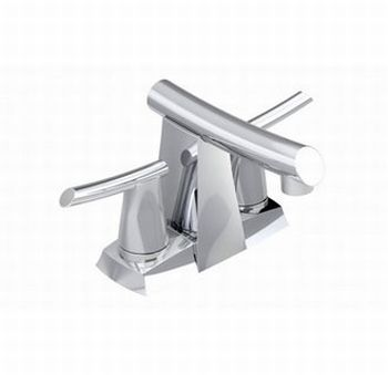 American Standard 7010.201.075 Green Tea Two Handle Centerset Lavatory Faucet - Stainless Steel