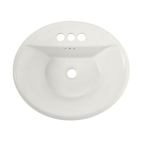 American Standard 0405.004EC Tropic Oval EverClean Countertop Sink - White