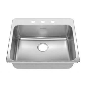 American Standard 15SB.252283.073 Prevoir Drop In 25-1/4 x 22 Single Bowl Kitchen Sink with 3 Hole Drilling - Stainless Steel