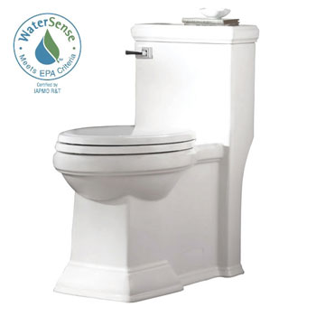 American Standard 2847.128.020 Town Square FloWise Right Height Elongated One Piece Toilet - White