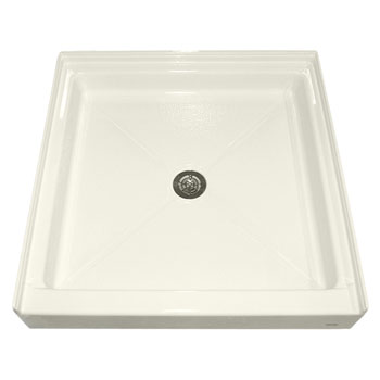 American Standard 3636.ST.222 Square Acrylic Alcove Shower Bases - Linen