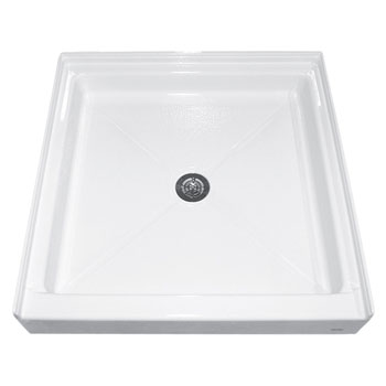American Standard 4242.ST.020 Square Acrylic Alcove Shower Bases - White
