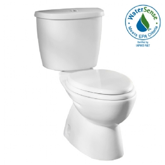 American Standard 2479.216.020 FloWise Dual Flush Elongated Toilet White