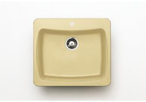 Pegasus AL10SA 25 In. x 22 In. Granite Single Bowl Kitchen Sink in Sahara
