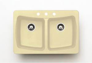 Pegasus AL20SA Granite Double Bowl Kitchen Sink in Sahara