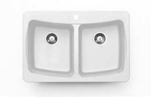Pegasus AL20WH Double Bowl Kitchen Sink in White