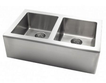 Astracast AP2033 Apron Double Bowl Kitchen Sink - Stainless Steel