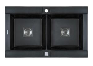 Pegasus GE20MB GEO Double Bowl Kitchen Sink - Black