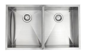 Pegasus ZR2033 Esatto Double Bowl Kitchen Sink - Stainless Steel