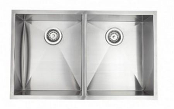 Astracast ZR20SXUSUM Esatto Undermount Double Bowl Kitchen Sink - Stainless Steel
