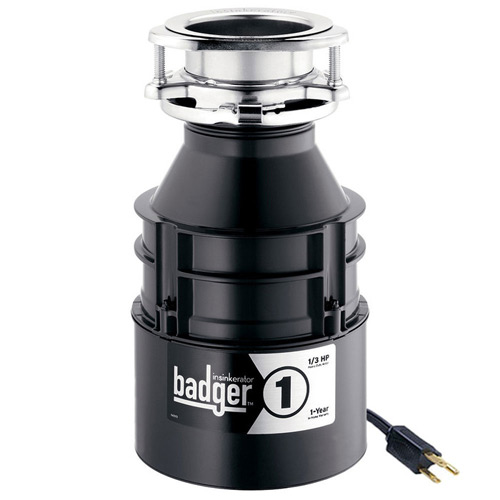 InSinkErator Badger 1, 1/3 HP Garbage Disposal with Cord