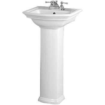 Barclay C3-390WH Washington Small Column White (Pedestal Only)