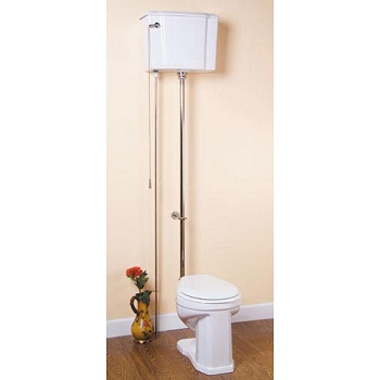 Barclay HTT-SN Victoria Trim High Tank Water Closet Satin Nickel
