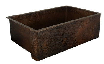 Belle Foret BFF1KIT-ORB Apron Front Kitchen Sink Oil Rubbed Bronze (Pictured in Weathered Copper)