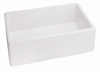 Belle Foret BFF4KITBI Fireclay Apron Front Farmhouse Kitchen Sink Bisque (Pictured in White)