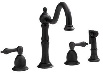 Belle Foret BFN120-01ORB Two Handle Kitchen Faucet with Matching Sidespray Oil Rubbed Bronze
