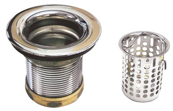 Belle Foret NBBS2SS Junior Basket Strainer - Stainless Steel (Pictured in Chrome)