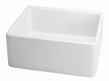 Belle Foret BFF3KIT-WH Fireclay Apron Front Kitchen Sink White