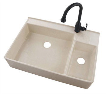 Belle Foret BFF5KIT-BI Fireclay Apron Front Kitchen Sink Bisque