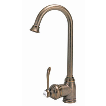Belle Foret BFN260-01SS Single Handle Bar Faucet Stainless Steel (Pictured in Tumbled Bronze)