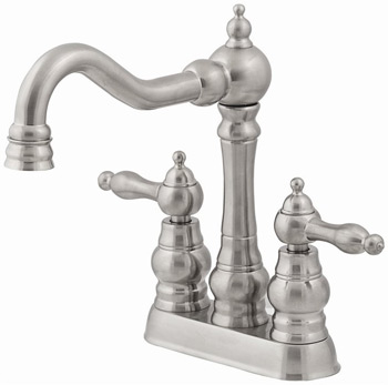 Belle Foret BFN375-01SN Two Handle Lavatory Centerset Faucet Satin Nickel