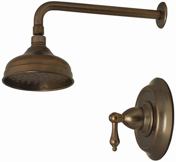 Belle Foret N550-01ORB Pressure Balance Shower Faucet Oil Rubbed Bronze (Pictured in Tumbled Bronze)