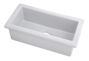 Belle Foret BFFC10BAR-WH Fireclay Undermount Bar/Prep Sink - White
