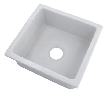 Belle Foret BFFC20BAR-WH Fireclay Undermount Bar Sink White