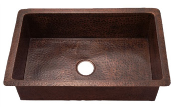 Belle Foret BFKKIT-ORB Single Bowl Kitchen Undermount Sink Oil Rubbed Bronze (Pictured in Weathered Copper)