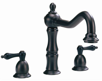 Belle Foret GWS01ORB Two Handle Lavatory Widespread Faucet - Oil Rubbed Bronze