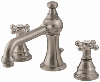 Belle Foret N380-02CP Two Handle Lavatory Widespread Faucet Chrome (Pictured in Satin Nickel)