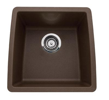Blanco 440078 Performa Undermount Single Bowl Kitchen Sink Cafe Brown